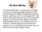 Emotions- Three Little Pigs
