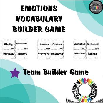 Emotions Vocabulary Builder Game