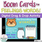 Emotions Vocabulary Digital Boom Cards™ Activity - Feeling