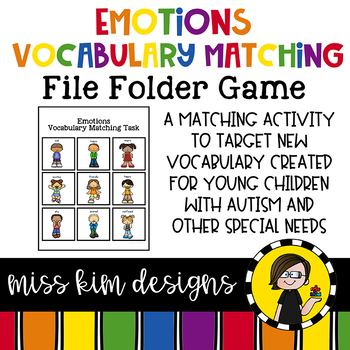 Emotions Vocabulary Folder Game for Early Childhood Special Education