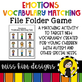Emotions Vocabulary Folder Game for Students with Autism & Special Needs