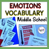 Emotions Vocabulary: Middle School