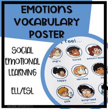 "ESL Poster - Emotions Vocabulary - ""I feel..."""