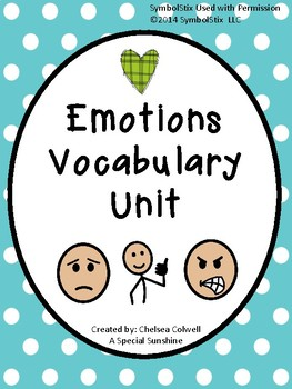 Emotions Vocabulary Unit for Special Education