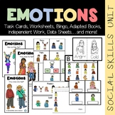 Emotions Vocabulary Unit (sped/autism/middle/high school)
