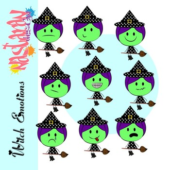 Emotions and Feelings Clip Art-Witch Clipart