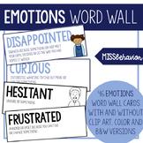 Emotions Word Wall | Emotion Vocabulary