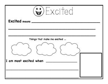 Emotions Worksheet Package