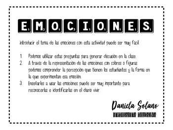 emotions worksheet spanish version by daniela bustos tpt. Black Bedroom Furniture Sets. Home Design Ideas