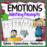 Emotions Writing Prompts {Narrative Writing, Informative & Opinion Writing}