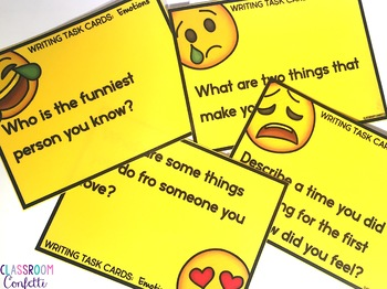 Emotions Writing Task Cards
