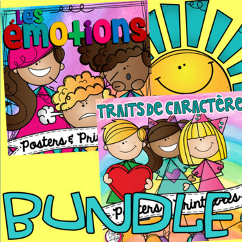 Emotions and Character Education Posters & Printables BUNDLE