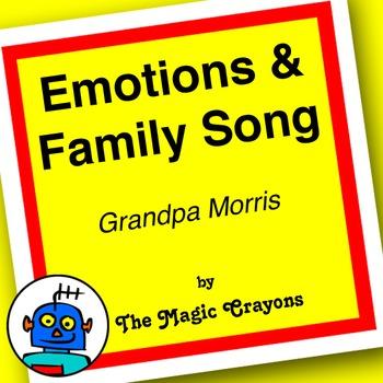 English Emotions & Family Members Song 1 for ESL, EFL,Kindergarten. Grandma