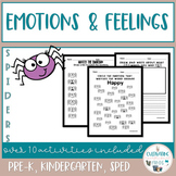 Emotions and Feelings Activities - Spiders