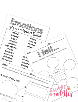 Feelings and Emotions Book & Activities - Maps for Thinking - EDITABLE