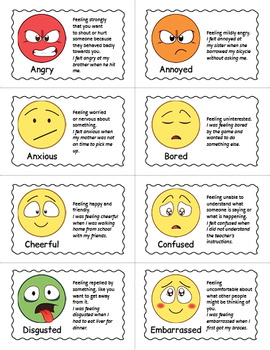 Emotions and Feelings Bingo Game