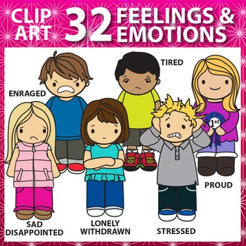 Emotions and Feelings Clip Art Super Pack