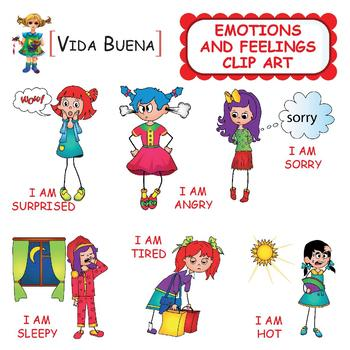 Emotions and Feelings Clip Art