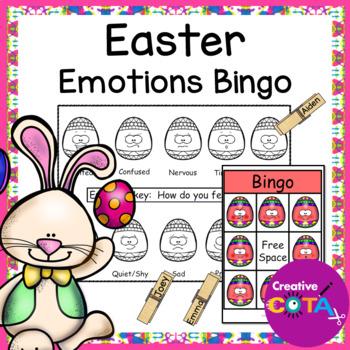 Easter Emotions and Feelings Bingo