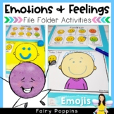 Emotions and Feelings File Folder (Daily Check In) - Emoji Design