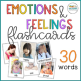 Emotions and Feelings Flash Cards with Real Pictures