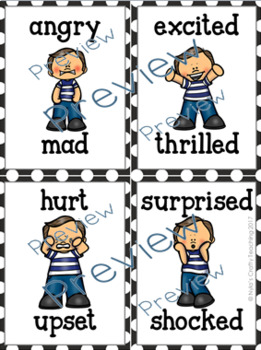 Emotions and Feelings Flash Cards with Boys Only