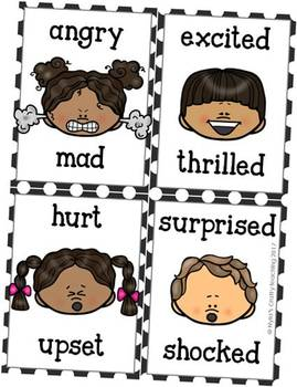 Emotions and Feelings Flash Cards with Faces