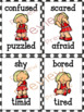 Emotions and Feelings Flash Cards with Girls Only