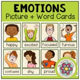 EMOTIONS AND FEELINGS - Picture + Word Cards (ESL/EFL)