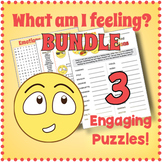 EMOTIONS AND FEELINGS - 3 Vocabulary Puzzle Worksheet Activities
