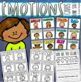 Emotions and Feelings Visual Cards for Pocket Chart Lanyard Key Ring Think Sheet