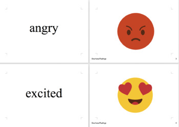 Emotions and Feelings Vocabulary Cards