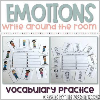 Emotions and Feelings Vocabulary Practice - Write The Room