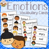 Emotions and Feelings Vocabulary Word Wall Cards plus Write and Wipe Version