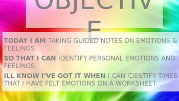 Emotions and Feelings powerpoint