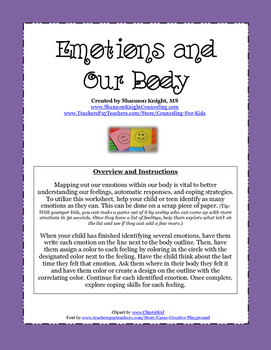 Emotions and Our Body Worksheet