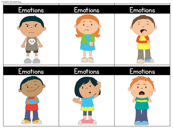 Emotions and Pronoun Cards