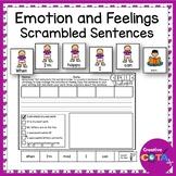 Feelings and Emotions Self Regulation Strategies Scrambled Sentence Writing