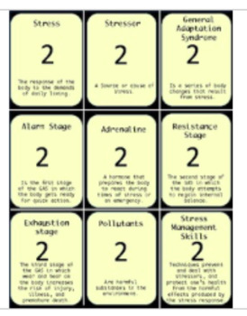 Emotions and Stress Management Health Trivia Board