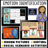 Emotions and feelings social skills activities BOOM CARDS™ hidden picture
