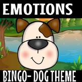 Emotions bingo game Dog theme