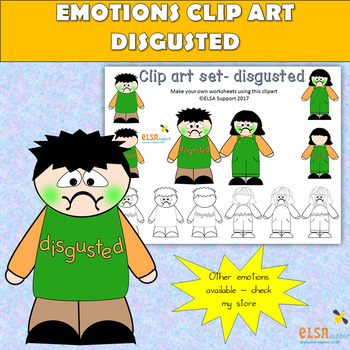 Emotions clip art -DISGUST
