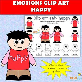 Emotions clip art - HAPPY