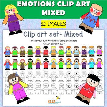 Emotions clip art -Mixed