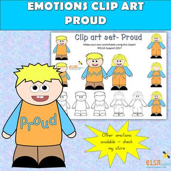 Emotions clip art -PROUD