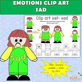 Emotions clip art - SAD