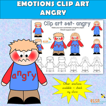 Emotions clip art -ANGRY