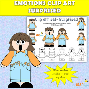 Emotions clip art -SURPRISED