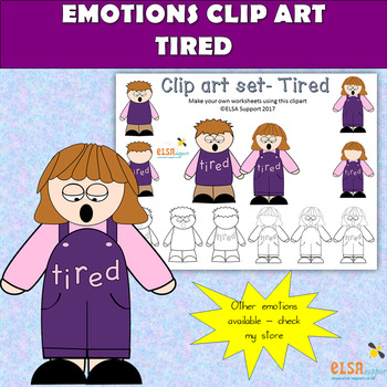 Emotions clip art -TIRED