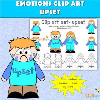 Emotions clip art -UPSET
